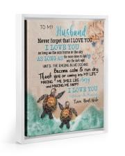 Gift For Husband - To My Husband Turtle Floating Framed Canvas Prints White tile