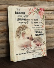 Gift For Daughter - To My Daughter Hedgehog 11x14 Gallery Wrapped Canvas Prints aos-canvas-pgw-11x14-lifestyle-front-19