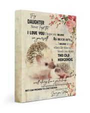 Gift For Daughter - To My Daughter Hedgehog 11x14 Gallery Wrapped Canvas Prints front
