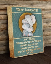 Gift For Daughter - To My Daughter Elephant 11x14 Gallery Wrapped Canvas Prints aos-canvas-pgw-11x14-lifestyle-front-19