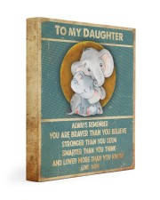 Gift For Daughter - To My Daughter Elephant 11x14 Gallery Wrapped Canvas Prints front