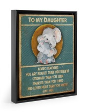 Gift For Daughter - To My Daughter Elephant 11x14 Black Floating Framed Canvas Prints thumbnail