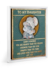 Gift For Daughter - To My Daughter Elephant 11x14 White Floating Framed Canvas Prints thumbnail