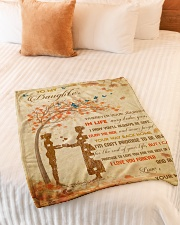 """Gift For Daughter - To My Daughter Tree Love Small Fleece Blanket - 30"""" x 40"""" aos-coral-fleece-blanket-30x40-lifestyle-front-01"""