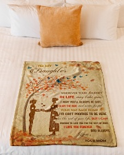"""Gift For Daughter - To My Daughter Tree Love Small Fleece Blanket - 30"""" x 40"""" aos-coral-fleece-blanket-30x40-lifestyle-front-04"""