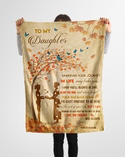 """Gift For Daughter - To My Daughter Tree Love Small Fleece Blanket - 30"""" x 40"""" aos-coral-fleece-blanket-30x40-lifestyle-front-14"""