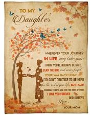 Gift For Daughter - To My Daughter Tree Love Fleece Blanket tile
