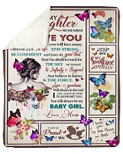 "Gift For Daughter - To My Daughter Butterfly Sherpa Fleece Blanket - 50"" x 60"" thumbnail"