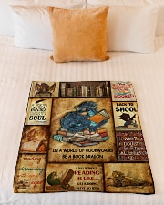 "In A World Of Bookworms Be A Book Dragon Small Fleece Blanket - 30"" x 40"" aos-coral-fleece-blanket-30x40-lifestyle-front-04"