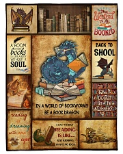 "In A World Of Bookworms Be A Book Dragon Small Fleece Blanket - 30"" x 40"" front"