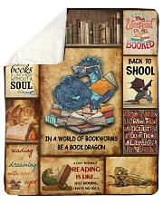 "In A World Of Bookworms Be A Book Dragon Sherpa Fleece Blanket - 50"" x 60"" thumbnail"