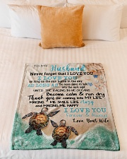 "Gift For Husband - To My Husband Turtle Small Fleece Blanket - 30"" x 40"" aos-coral-fleece-blanket-30x40-lifestyle-front-04"
