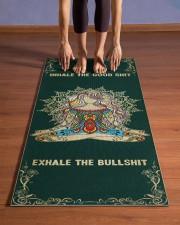 Inhale The Good Shit - Exhale The Bullshit Yoga Mat 24x70 (vertical) aos-yoga-mat-lifestyle-26