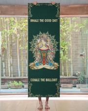 Inhale The Good Shit - Exhale The Bullshit Yoga Mat 24x70 (vertical) aos-yoga-mat-lifestyle-27