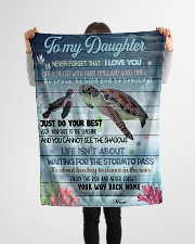 """Gift For Daughter - To My Daughter Turtle Small Fleece Blanket - 30"""" x 40"""" aos-coral-fleece-blanket-30x40-lifestyle-front-14"""