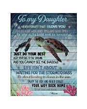 """Gift For Daughter - To My Daughter Turtle Quilt 40""""x50"""" - Baby thumbnail"""