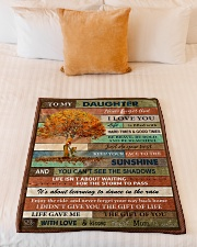 """Gift For Daughter - To My Daughter Tree Small Fleece Blanket - 30"""" x 40"""" aos-coral-fleece-blanket-30x40-lifestyle-front-04"""