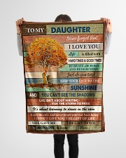 """Gift For Daughter - To My Daughter Tree Small Fleece Blanket - 30"""" x 40"""" aos-coral-fleece-blanket-30x40-lifestyle-front-14"""