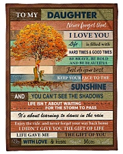 """Gift For Daughter - To My Daughter Tree Small Fleece Blanket - 30"""" x 40"""" front"""