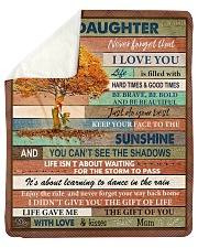 """Gift For Daughter - To My Daughter Tree Sherpa Fleece Blanket - 50"""" x 60"""" thumbnail"""