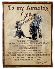 """Gift For Son - To My Son Biker Small Fleece Blanket - 30"""" x 40"""" front"""
