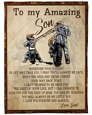 Gift For Son - To My Son Biker Fleece Blanket tile
