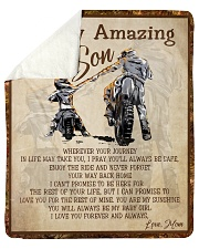 "Gift For Son - To My Son Biker Sherpa Fleece Blanket - 50"" x 60"" thumbnail"