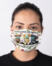 Dogs Make Me Happy Humans Make My Head Hurt Cloth Face Mask - 3 Pack aos-face-mask-lifestyle-01