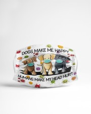 Dogs Make Me Happy Humans Make My Head Hurt Cloth Face Mask - 3 Pack aos-face-mask-lifestyle-22
