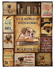 "In A World Of Bookworms Be A Book Dog Large Fleece Blanket - 60"" x 80"" thumbnail"