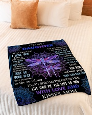 """Gift For Daughter - To My Daughter Dragonfly Small Fleece Blanket - 30"""" x 40"""" aos-coral-fleece-blanket-30x40-lifestyle-front-01"""