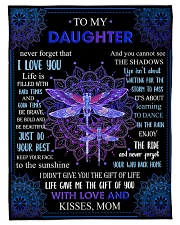 """Gift For Daughter - To My Daughter Dragonfly Small Fleece Blanket - 30"""" x 40"""" front"""