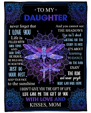 Gift For Daughter - To My Daughter Dragonfly Fleece Blanket tile