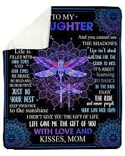 """Gift For Daughter - To My Daughter Dragonfly Sherpa Fleece Blanket - 50"""" x 60"""" thumbnail"""