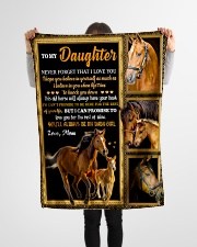 """Gift For Daughter - To My Daughter Horse Small Fleece Blanket - 30"""" x 40"""" aos-coral-fleece-blanket-30x40-lifestyle-front-14"""