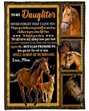 Gift For Daughter - To My Daughter Horse Fleece Blanket tile
