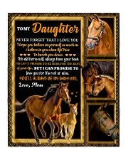 """Gift For Daughter - To My Daughter Horse Quilt 50""""x60"""" - Throw thumbnail"""