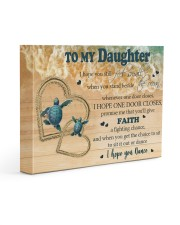 Gift For Daughter - To My Daughter Turtle 14x11 Gallery Wrapped Canvas Prints front