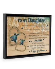 Gift For Daughter - To My Daughter Turtle 14x11 Black Floating Framed Canvas Prints thumbnail