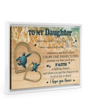 Gift For Daughter - To My Daughter Turtle 14x11 White Floating Framed Canvas Prints thumbnail