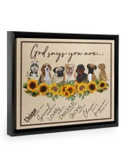 God Say You Are - Gift For Dog Lovers 14x11 Black Floating Framed Canvas Prints thumbnail
