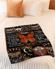 """Gift For Daughter - To My Daughter Butterfly Small Fleece Blanket - 30"""" x 40"""" aos-coral-fleece-blanket-30x40-lifestyle-front-01"""