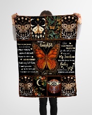 """Gift For Daughter - To My Daughter Butterfly Small Fleece Blanket - 30"""" x 40"""" aos-coral-fleece-blanket-30x40-lifestyle-front-14"""