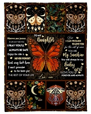 """Gift For Daughter - To My Daughter Butterfly Small Fleece Blanket - 30"""" x 40"""" front"""