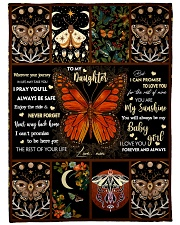 Gift For Daughter - To My Daughter Butterfly Fleece Blanket tile