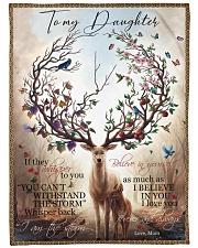 Gift For Daughter - To My Daughter Deer Fleece Blanket tile
