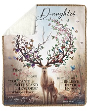 "Gift For Daughter - To My Daughter Deer Sherpa Fleece Blanket - 50"" x 60"" thumbnail"