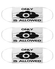 Only O2 Allowed Cloth Face Mask - 3 Pack front