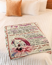 """Gift For Daughter - To My Daughter Unicorn Small Fleece Blanket - 30"""" x 40"""" aos-coral-fleece-blanket-30x40-lifestyle-front-01"""