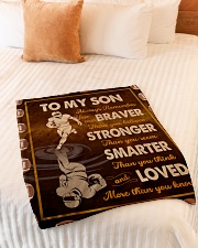 """Gift For Son - To My Son Football Small Fleece Blanket - 30"""" x 40"""" aos-coral-fleece-blanket-30x40-lifestyle-front-01"""